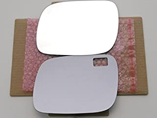 New Replacement Mirror Glass with FULL SIZE ADHESIVE for 2004-2006 VOLKSWAGEN TOUAREG Driver Side View Left LH