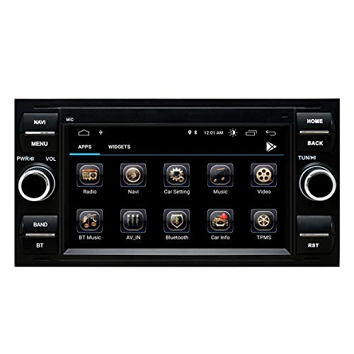 Autoradio Stereo Radio Ford Focus Mondeo Kuga C-Max S-Max Kuga Galaxy mit Android 10.0 Doppel 2 Din Sat NAV 7 Zoll HD Touchscreen Head Unit GPS Navigation DVD-Player Bluetooth WiFi Backup-Kamera USB