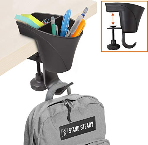 Clamp-On Organizer is a handy way to stay organized in a small home work space