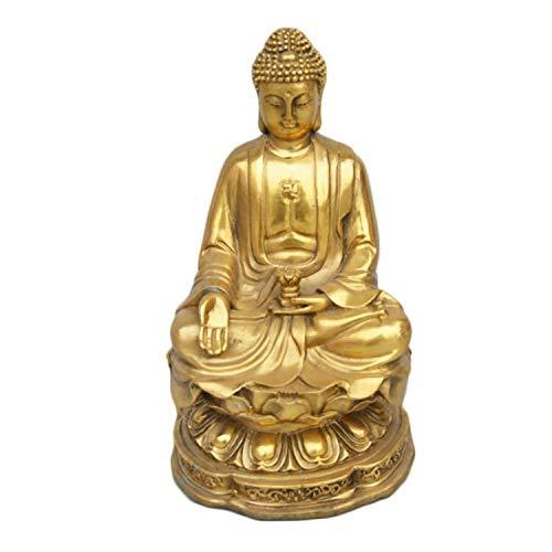 LAOJUNLU Estatua de Buda de Sakyamuni, Estatua de Bronce. Joyas de Estilo Tradicional Chi