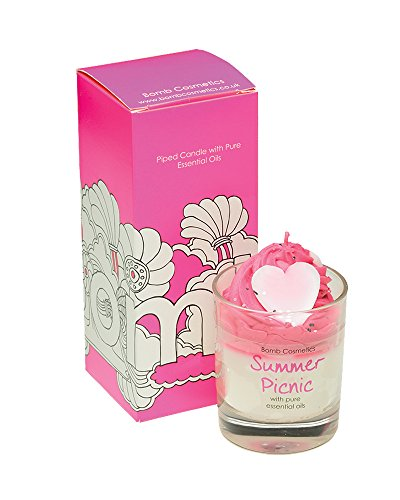 Bomb Cosmetics Summer Picnic Piped Glass Candle