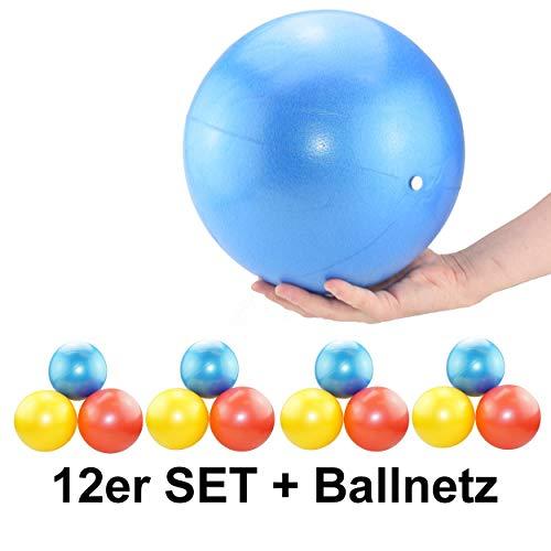 ATC Handels GmbH Soft Pilates & Yoga Ball 12er Set Mix Farben inklusive Ballnetz