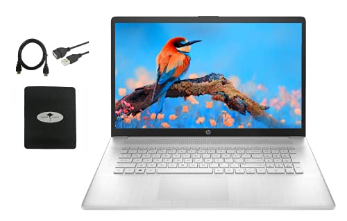 """2021 Newest HP 17.3"""" FHD 1080P IPS Laptop, 11th Gen Intel 4-Core i5-1135G7(up to 4.2 GHz), 12GB DDR4-3200MHz, 512GB PCIe SSD, Intel Iris Xe Graphics, WiFi, HDMI, Webcam, Win10 S, w/GM Accessories"""