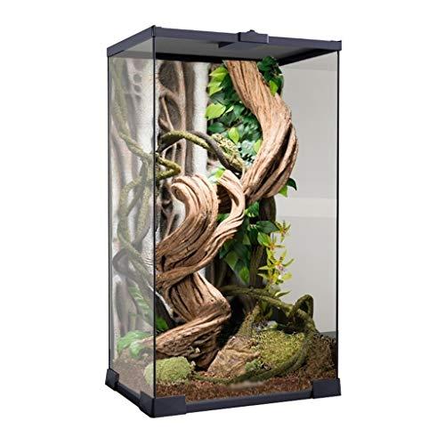 Xu-pet Reptil camaleón Tanque, Vivarium Tortuga de la Rana de la Serpiente Box-Reloj for criadores Observación de la Caja de la Caja de Hogares casa del Animal doméstico (Size : 18.5 * 13 * 33CM)