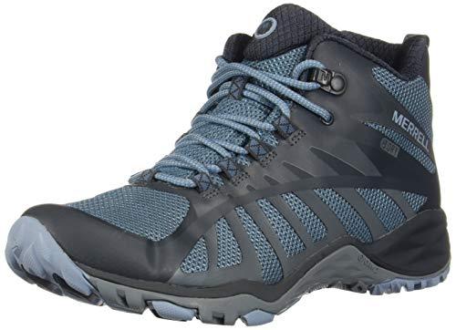 Merrell womens Siren Edge Q2 Mid Waterproof Hiking Boot, Bluestone, 6 US
