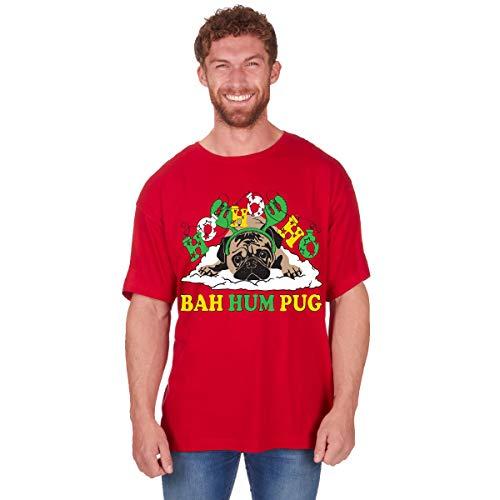 Regalo Navidad Novedad Camisetas Hombre Divertido Navidad Algodón Estampado Camiseta Nuevo Tallas Grandes - hoho...