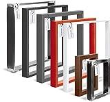 HOLZBRINK Tischkufen aus Vierkantprofilen 60x20 mm, Tischgestell 40x43 cm, Anthrazitgrau, 1 Stück, HLT-01-E-BB-7016