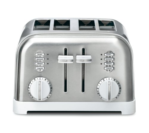 Cuisinart CPT-180W Metal Classic 4-Slice toaster, White