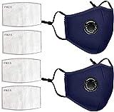 VESNAHOME 2 Toallitas de algodón Incluye 4 Paños de Repuesto Orejeras Ajustables Lavable y Reutiliza...