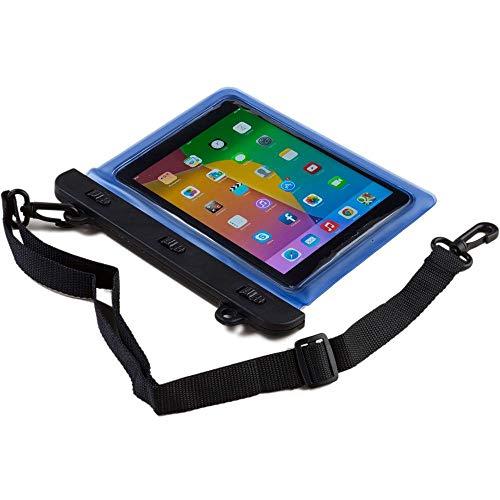 Funda Universal Resistente al Agua Tipo sobre Voda de Cooper Cases(TM) para Tablet de 7 y 8 Pulgadas en Azul (diseño Ligero, Ventana táctil, hermética, asa para Hombro Ajustable)