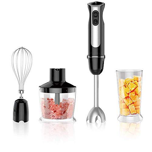ZGYQGOO Handmixer, leistungsstarker 4-in-1-Multifunktions-Handmixer, elektrischer Eintauchmischer mit Eierkocher, Lebensmittelzerhacker und BPA-freiem Becher