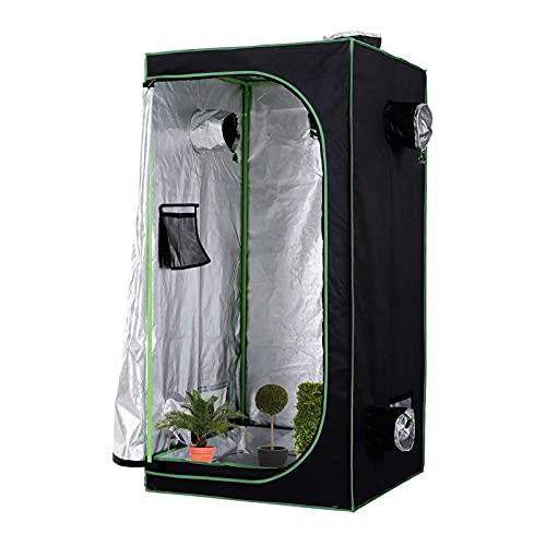 AJLDN Armario Cultivo Interior, Grow Tent 60x60x120cm Mylar HidropÓNica Crecer Tienda Caja de Cultivo...