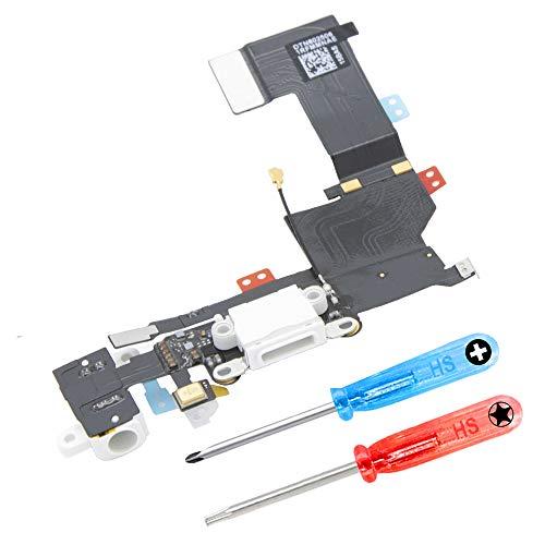 MMOBIEL Conector Dock de Carga de Reemplazo Compatible con iPhone SE 4.0 Pulg. (Space Grey/Negro) Incl. Destornilladores