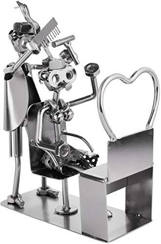 BRUBAKER Peluquero de Tornillo - Figura de Hierro Hecha a Mano Peluquero de Metal - Figura de Metal Idea de Regalo para Peluqueros y Barberos