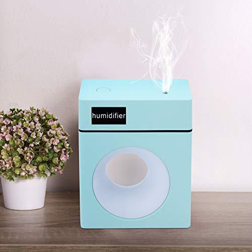 MoYouno Umidificatore silenzioso da scrivania con luce notturna e diffusore di aromi, umidificatore USB Air Cool Mist per casa, camera da letto, ufficio, auto, 10 ore di lavoro (blu)