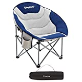 Best Chair For Camping - KingCamp Moon Saucer Leisure Heavy Duty Steel Camping Review