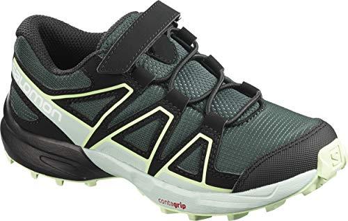 Salomon Kinder Trail Running Schuhe, SPEEDCROSS BUNGEE K, Farbe: grün (Green Gables/Icy Morn/Patina Green), Größe: EU 27