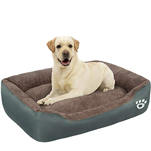 TR pet Large Dog Beds (XL/XXL/XXXL) with Removable Cover | X Large Pets Bed for Small, Medium, Large Size Dog Breeds | Warm Plush Couch Bed | Anti-Slip Bottom