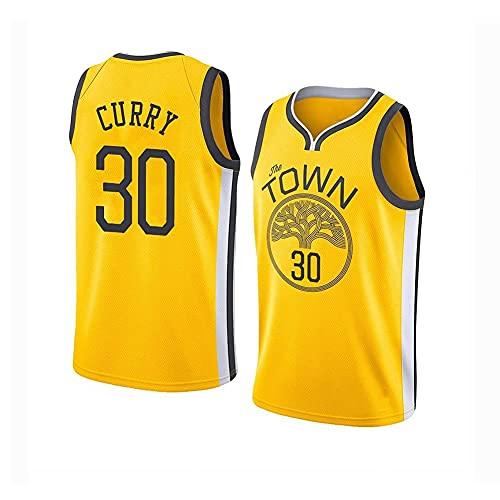 QiuiuQ Camiseta De Baloncesto para Hombre Y Mujer, Warriors #30 Curry Camisetas De Verano Camiseta De Ventilador Chaleco Sin Mangas Ropa Deportiva Uniformes Deportivos Transpirables