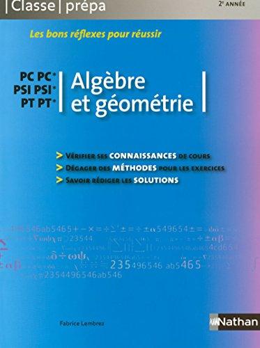 Algèbre et géométrie - PC-PC* PSI-PSI* PT-PT*