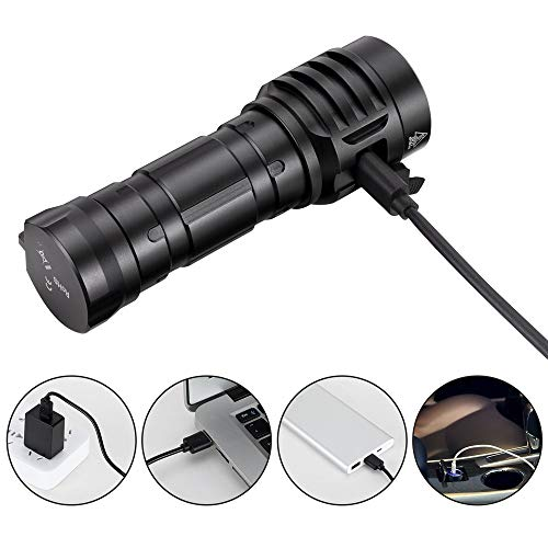 Sofirn IF25A Led Torch, Super Bright 3800 Lumen Anduril UI SST20 LED Flashlight with Rechargeable 21700 Battery Torches for Camping, Hiking, Outdoors