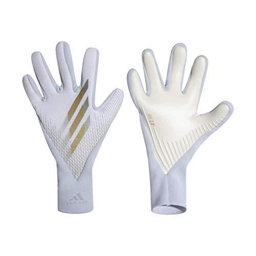 adidas X GL PRO Goalkeeper Gloves Size 8 White/Gold/Silver