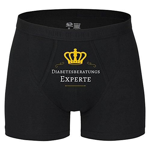 Multifanshop Herren Boxer Short Diabetesberatungs Experte - schwarz - Größe S bis 2XL, Größe:XXL