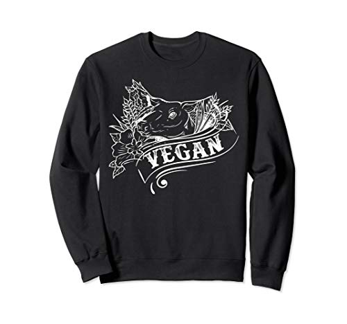 I Don't Eat My Friends, Girls Pig Tee Vegan Vegetarian Sweatshirt