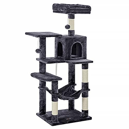 FEANDREA Árbol de Gatos, Torre de Gatos, 143cm, Gris Ahumado PCT161G01