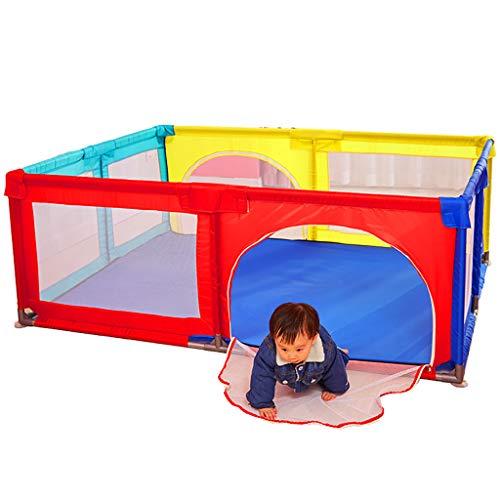 WYQ Parc pour bébé, Aire de Jeu pour bébé, barrière de sécurité pour bébés et Enfants (Bleu, Couleur) Parc pour bébé (Couleur : Couleur, Taille : 120×190x70cm)