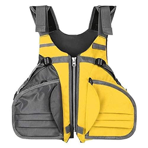 Bktmen Chaleco Salvavidas Chaleco Adulto Chaqueta de natación Chaleco de Impacto para al Aire Libre Flotante natación Auxiliar de esquí Kayak Pesca Surf Camiseta Salvavidas (Color : Yellow)