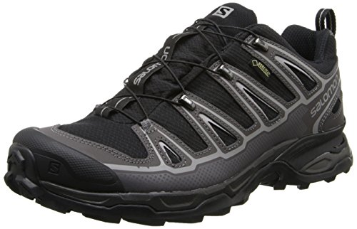 SALOMON X Ultra 2 GTX men's hiking shoes, Black - Schwarz (Black/Autobahn/Aluminium), 11 UK