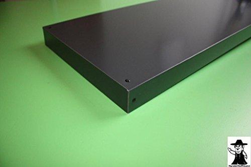 Mauerabdeckung Attika Endstück Aluminium farbig 0,8 mm (groß, Anthrazit RAL 7016)