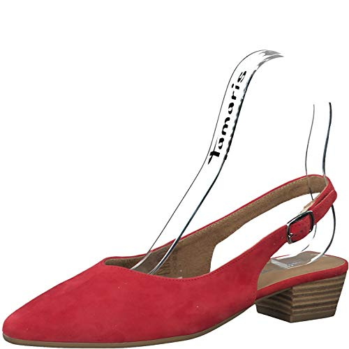 Tamaris Damen Pumps 29405-24, Frauen Sling-Pumps, Slingback knöchelriemchen büro-Pumps Office bequem elegant,Lipstick,40 EU / 6.5 UK