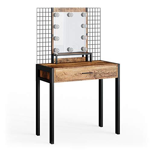 Vicco Design Schminktisch Fyrk Frisiertisch Frisierkommode Schminkkommode Metall (+LED)