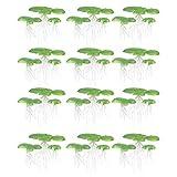 Balacoo 36 Piezas de Plantas Artificiales de Acuario Plantas de Agua de Plástico Peceras Plantas Flotantes Decoraciones de Hierba de Agua Decoración para El Patio Al Aire Libre Estanque