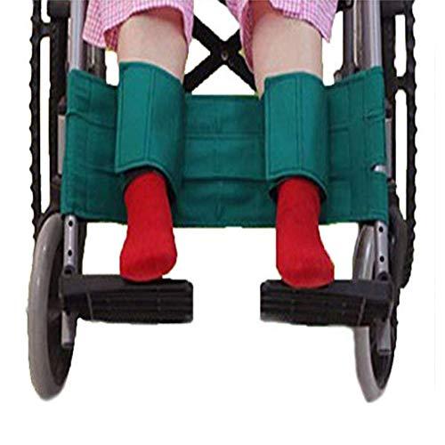 YAOBAO Rollstuhl Fußstütze Beinschlaufe Sicherheitsgurt Medizinische Gurte Sicherheitsgurt Sicherheit Fußstütze Beckengurt für Patienten, ältere Menschen & Senioren Zubehör (grün)