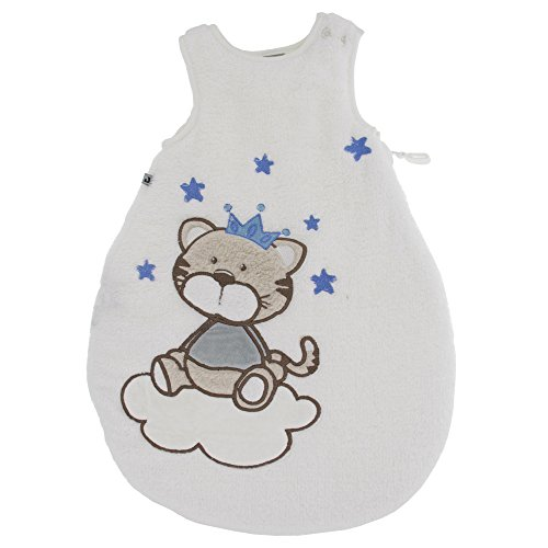 Jacky Jungen Baby Winter Schlafsack Katze, Ärmellos, Wattiert, Alter: 0-2 Monate, Größe: 50/56, Farbe: Blau, 350005