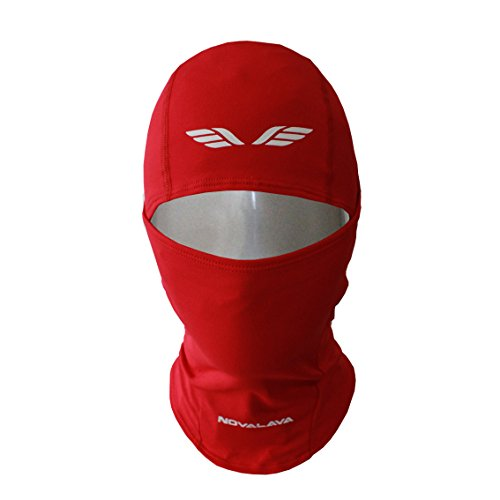 NovaLava] Thin Multi Functional (Full or Half) Balaclava Sports Face Mask Red