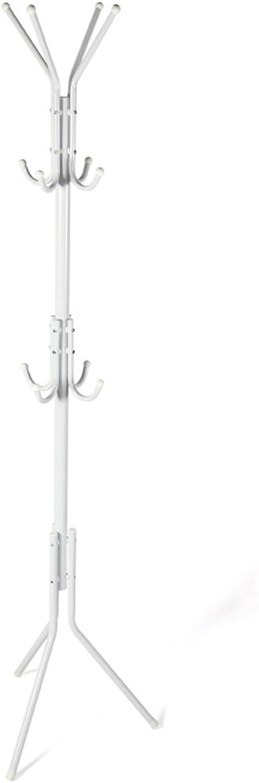 AIDELAI Coat Racks- Metal Coat Rack Hanging Hanging Rack Simple Fashion Creative Bedroom Simple Twelve Hook Clothes Rack (color   White)