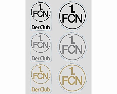 "AUFKLEBERKARTE STICKER AUFKLEBER ""Logo transparent"" 1. FC NÜRNBERG 1. FCN"