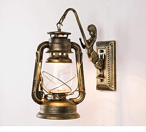 Retro nostalgische Treppengangwandlampe antikes Pferd Lampe Petroleumlampe industrieller Wind...