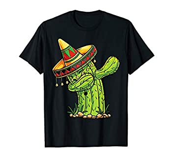 Dabbing Cactus T Shirt Cinco de Mayo Boys Kids Men Mexican
