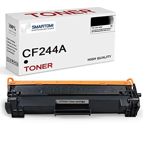 SMARTOMI - 1 cartucho de tóner negro de alto rendimiento compatible con cartuchos CF244A 44A para impresoras HP LaserJet Pro MFP M15w M15a M15 M28w M28a M28 M16a M16w M29a M29w (con chip 1000 páginas)