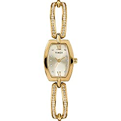 Gold-Tone/Silver-Tone Dress Analog 18mm Bangle Watch