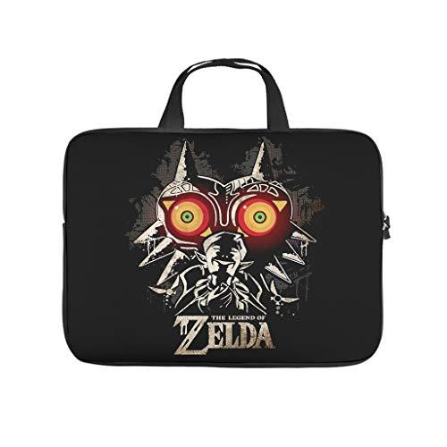 Zelda - Bolsa para portátil para uso diario con cara única y resistente al desgaste, bolsillos para tableta, adecuada para viajes de negocios.