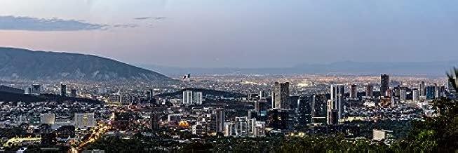Home Comforts Mexico Dusk Panorama Monterrey Twilight Sunset Laminated Poster Print 24 x 36