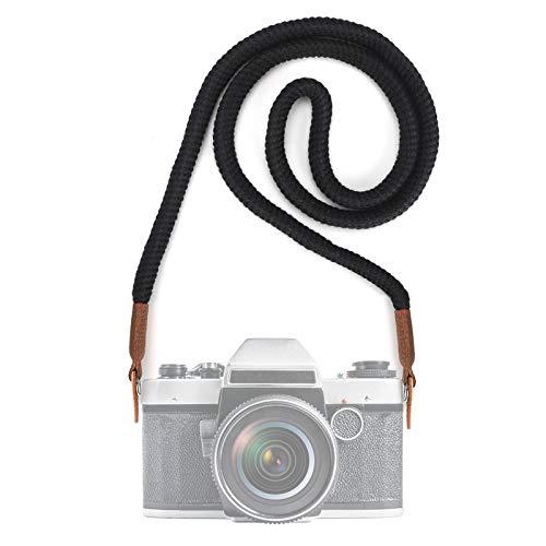 Correa de Hombro para Cámara y Videocámara, Strap de Algodón Suave Ajustable al Hombro y Cuello para Cámaras DSLR Nikon, Canon, Sony, Samsung, Olymplus (100CM)