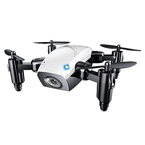 ZHCJH Mini Drone con Fotocamera, WiFi FPV con videocamera HD, Drone Tascabile Selfie per Bambini e Principianti, Drone Pieghevole con Mantenimento dell'altitudine, modalità Senza Testa, Controllo App