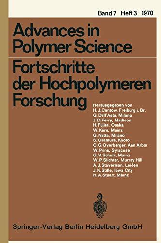 Fortschritte der Hochpolymeren Forschung (Advances in Polymer Science, 7/3)